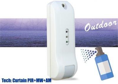 AVD205 PIR & MW curtain detector