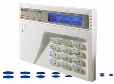 Blue LCD Display alarm keypad