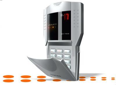 Digital 7 Segments Alarm Keypad Metallic