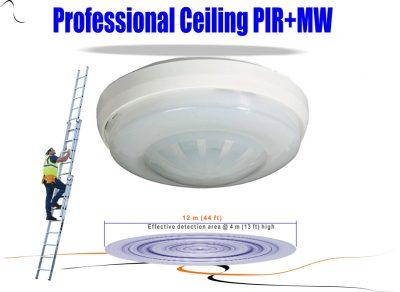 Dual Tech Ceiling Mount PIR
