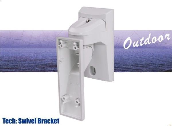 Swivel bracket alarm detector